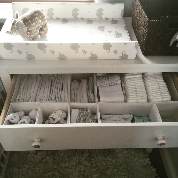 Organisation station! IKEA skubb boxes perfect for organising babies bits and…