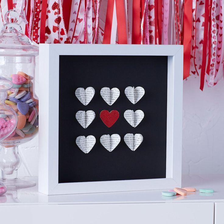 Valentineu0027s Day Paper Heart Shadowbox 2374 best