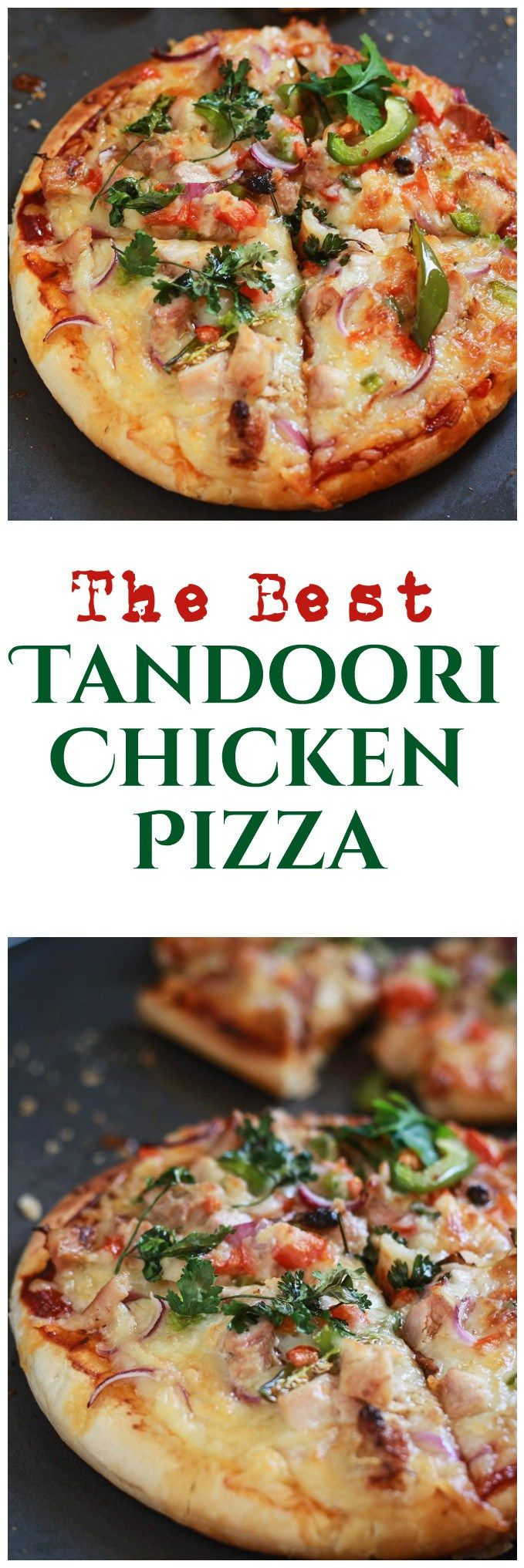 Tandoori Chicken Pizza Recipe - Chicken Tandoori Pizza Indian. A very very delicious tandoori chicken pizza recipe For those who love mixing indian cuisine in anything and everything