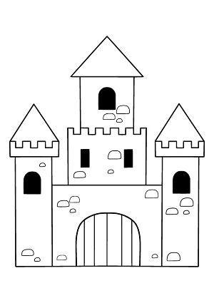 Ritterburg Ausmalbild Malvorlage Bastelvorlage Ausmalbild Bastelvorlage Malvorlage Ritterburg Castle Crafts Castle Coloring Page Castle Drawing