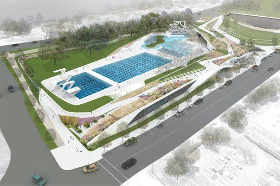 YMCA Sand Beach Park | Austin USA | dwg. urban landscape architecture