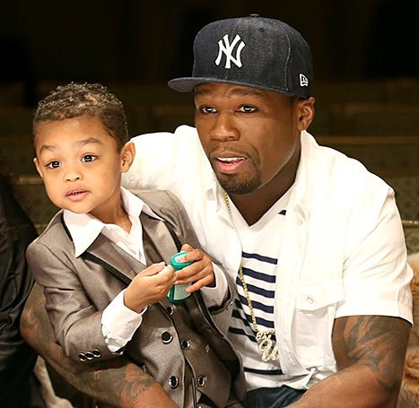 50 Cent with his son Sire Jackson