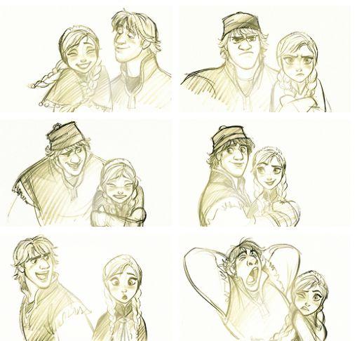 Anna and Kristoff concept art by Jin Kim | Frozen ideas ...