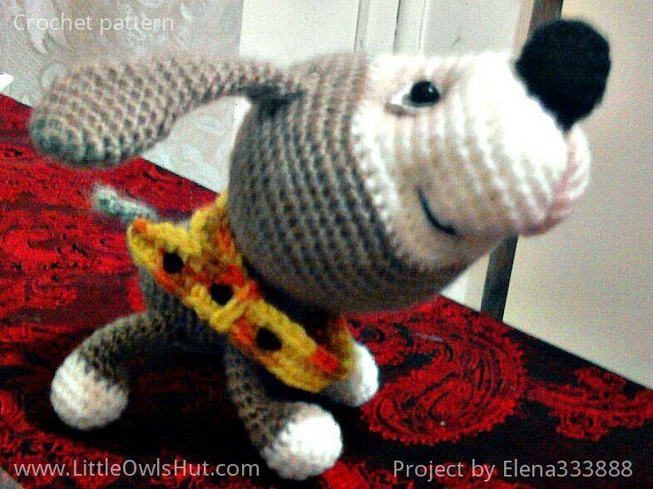 Project by Elena333888. Puppy with a collar crochet pattern by Pertseva for LittleOwlsHut. #LittleOwlsHut, #Amigurumi, #CrohetPattern, #Crochet, #Crocheted, #Puppy, #Pertseva, #DIY, #Craft, #Pattern