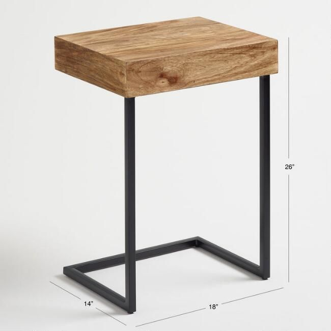 Wood Alec Laptop Table With Shelf Laptop Table Shelves Table