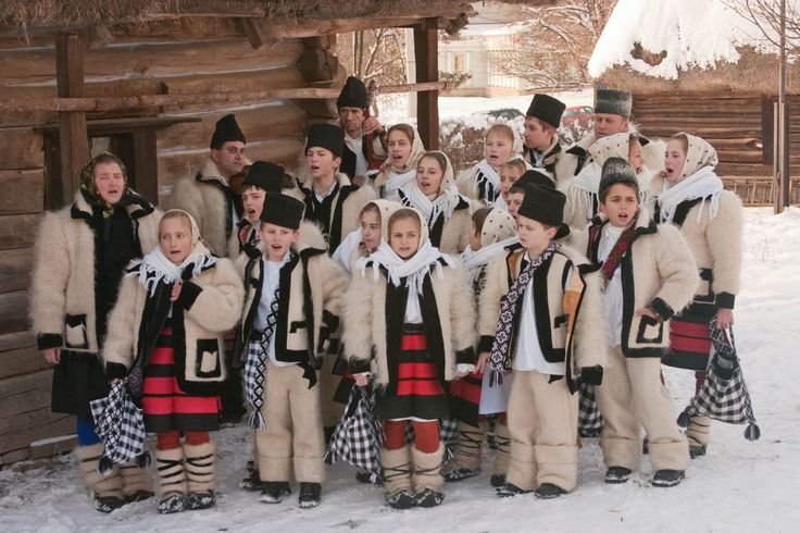 Romanian traditional Christmas carolers
