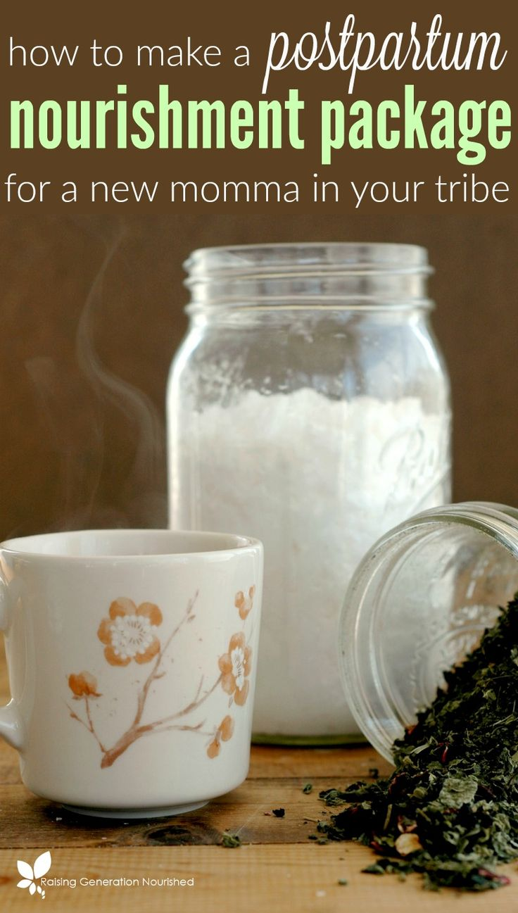 How To Make A Nourishment Package For Postpartum Mom - what a sweet gift to take care of mama with a new baby!