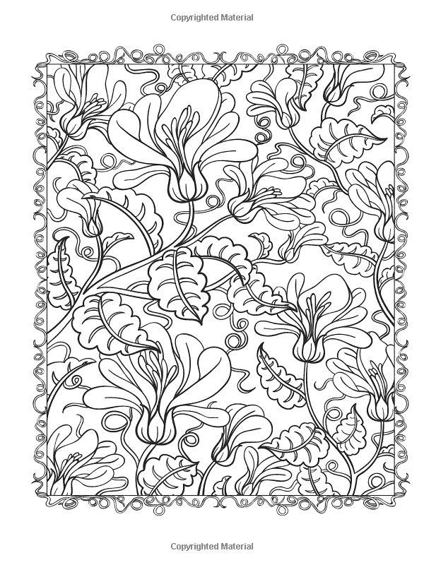 creative haven floral designs coloring book dover coloring pinterest inspiration. Black Bedroom Furniture Sets. Home Design Ideas