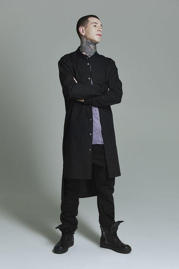 Long shirt black man