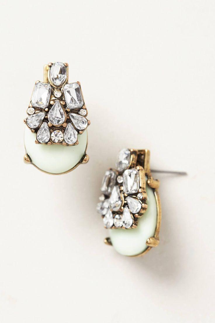 Anthropologie Seastone Earrings, pretty earrings, jewelry, accessorize, accessory, stone and jewel