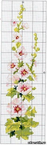 Схема для вышивки крестом. - Цветы - Каталог статей - Бесплатные схемы для вышивки крестом