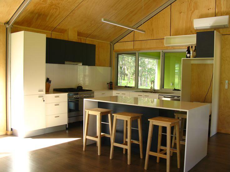 de atelier kitchen black white plywood