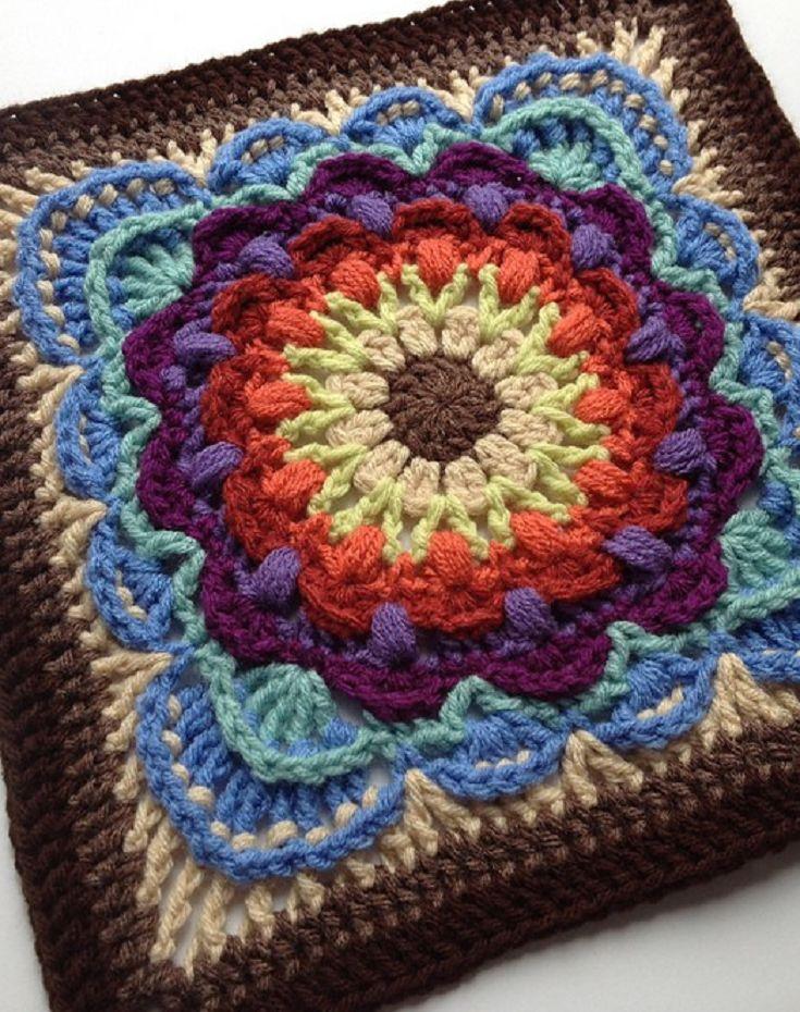 Granny Square Knitting Pattern : Best blocks mandalas y doilys images on pinterest