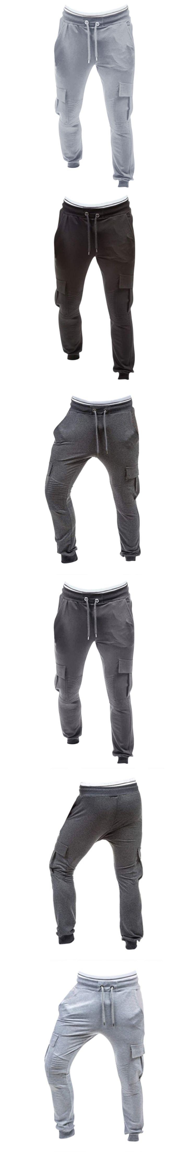Men Pants Autumn Spring Fashion Sweatpants Sportswear Casual Harem Pants Solid Hip Pop Workout Long Trousers Plus Size 3XL 2018