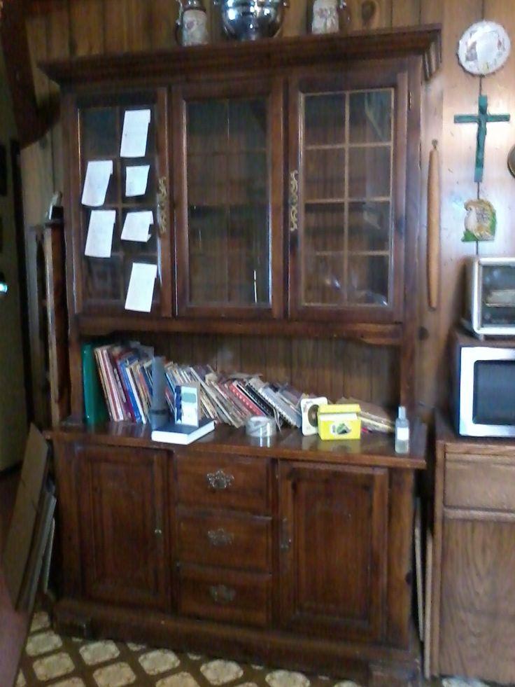 Large Kitchen Hutch In Katherine_weaveru0027s Garage Sale In Kenosha , WI For  $80.00. Early American