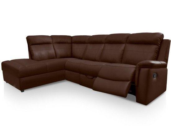 1000 id es propos de canap d angle marron sur pinterest tables basses a - Canape d angle simili cuir marron ...