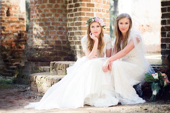 old sheldon church ruins bridal session