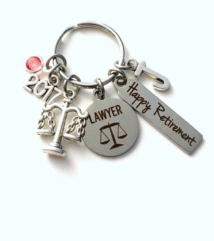 Retirement Gift for Lawyer Keychain, 2017 Judge Legal Scales Justice Keyring, Retire Key Chain, Present him her women Men Assistant Law by aJoyfulSurprise on Etsy