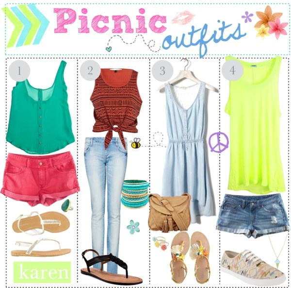 """Picnic Outfits 3"" by everygirlhasatip ❤ liked on Polyvore"