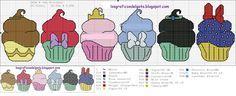 Divertido gráfico de cupcakes de princesas Disney...