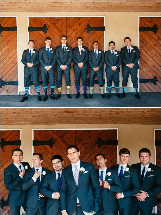 groomsmen with fun socks @weddingchicks