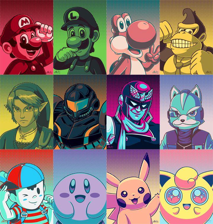 Smash Bros. by Red-Flare at DeviantArt