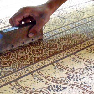 Block Print Carpet Tile