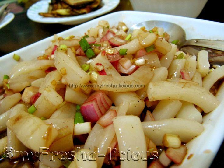 myFresha-licious: Kinilaw na Pusit (Squid Ceviche)  | more Filipino and Asian recipes at http://www.myfresha-licious.com/