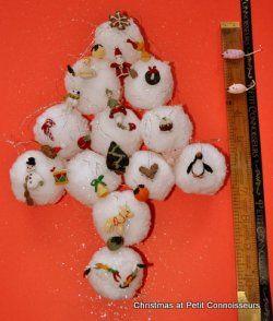Set of 25 Advent Tree Decorations by Jenny Tomkins