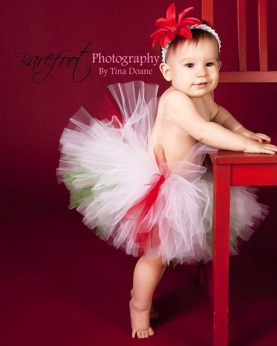Christmas Tutu - red white green tutu - Christmas Candy Cutie - Custom Sewn 8 Tutu - peppermint tutu - sizes Newborn to 5T    This handmade full and