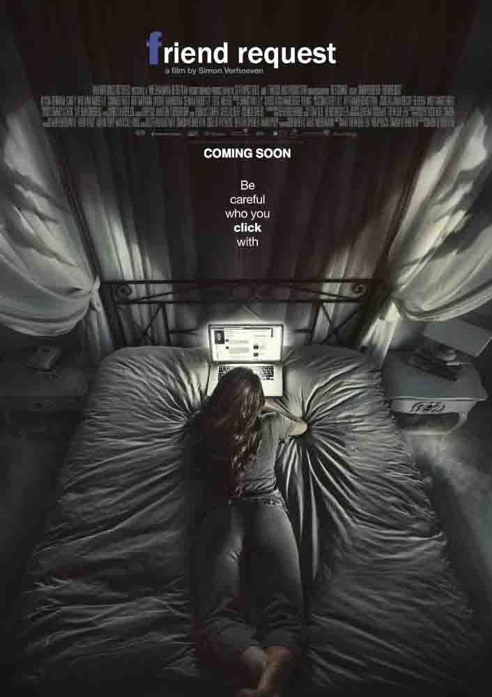 Watch Friend Request Online Watch Friend Request Online Friend Request (German title: Unfriend) is a psychological horror supernatural thriller film directed by Simon Verhoeven. With a screenplay by Matthew Ballen, Philip Koch and Verhoeven, the film stars Alycia Debnam-Carey, William Moseley, Connor Paolo, Brit Morgan, Brooke Markham, Sean Marquette, and Liesl Ahlers. The film was […]