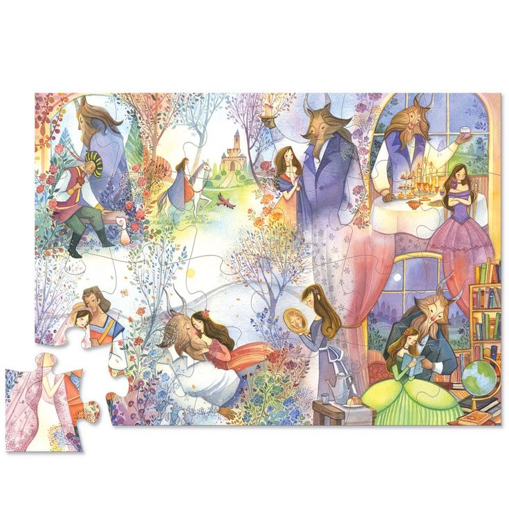 Enjoy Learning Us Map Puzzle%0A Beauty and the Beast    pc Once Upon a Puzzle Gift Set