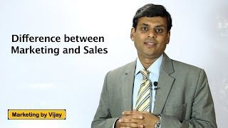 3. Difference between Marketing and Sales  Marketing Lecture by Prof. Vijay Prakash Anand
