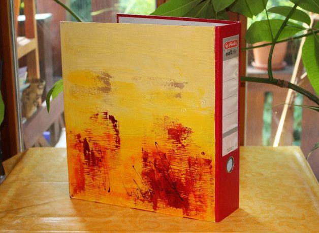 """Ordner & Ordnerrücken - Ordner """"Abstract Art IV"""" - ein Designerstück von Farbenfroh84 bei DaWanda"""
