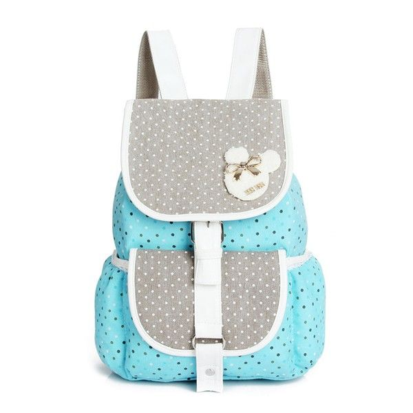 Wow! Fresh Polka Dot Pattern Mixed Colors Hasp School Backpack Travel Rucksack only $34.99 from ByGoods.com! I like it so much!!