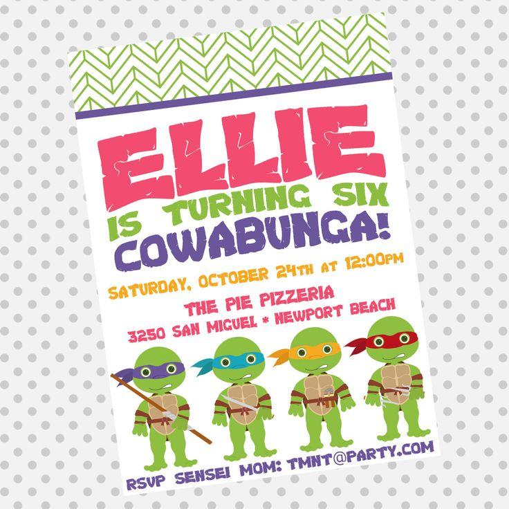 20 best Teenage Mutant Ninja Turtles Invitation & Printable Party ...