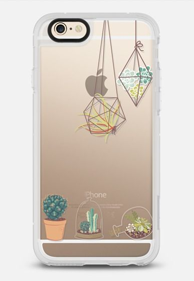 Cactus and Succulent Terrariums - Transparent iPhone 6 case by RubyRidgeStudios | @casetify
