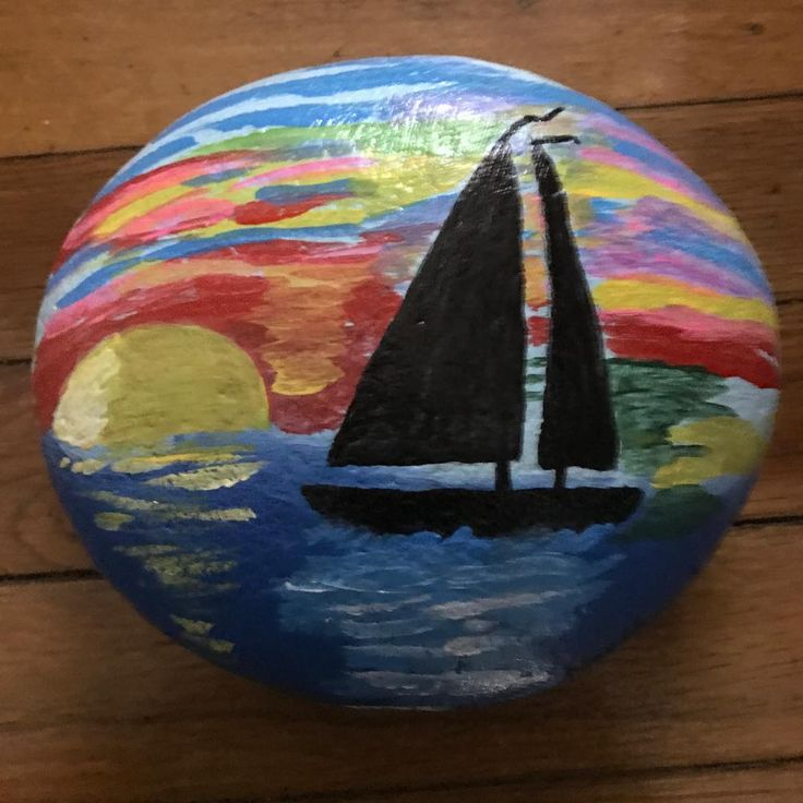 """Painted Rocks on Instagram: """"This weighs about 5…"""