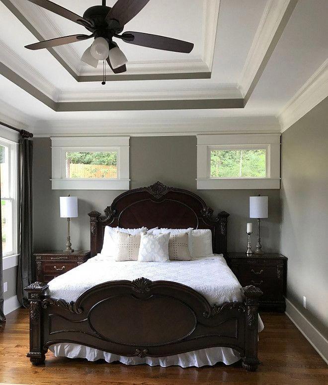 Grey Master Bedroom Sherwin Williams Amazing Gray Sw 7044 Greybedroomwithpopo Sherwin Williams Amazing Gray Grey Bedroom With Pop Of Color Gray Master Bedroom