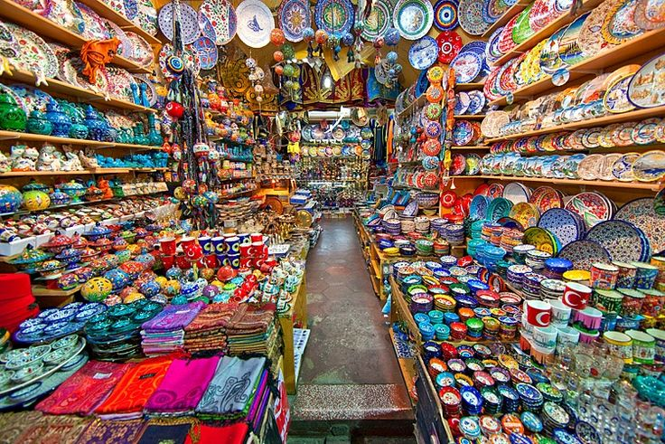 wares for sale, spice bazaar, istambul, turkey