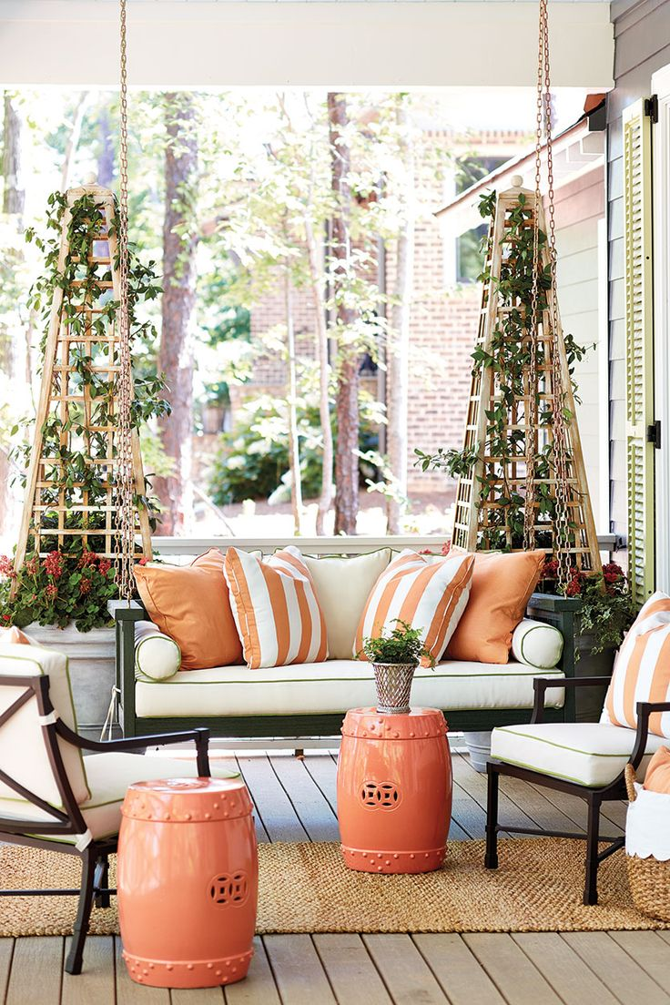 Wraparound porch at the Southern Living 2016 Idea House in Mt. Laurel outside Birmingham, Alabama