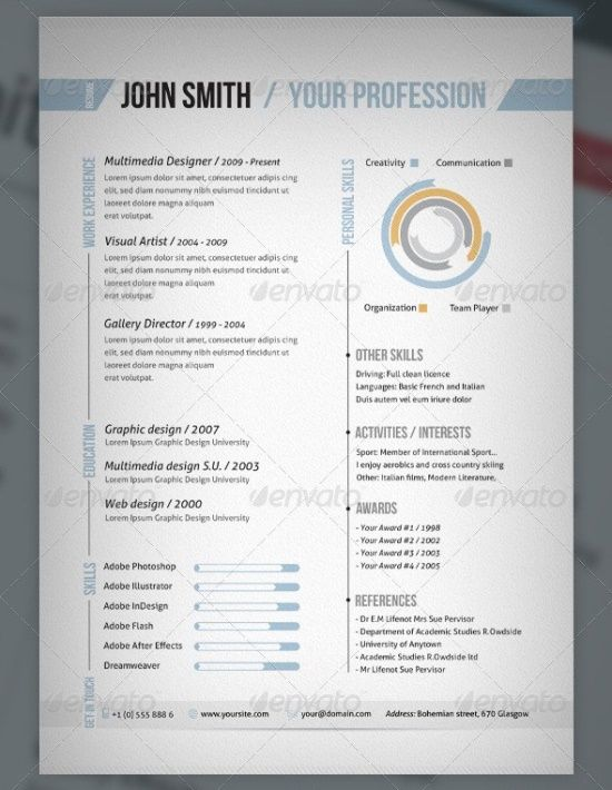 120 best Resumes images on Pinterest Places to visit, Cv - adobe indesign resume template