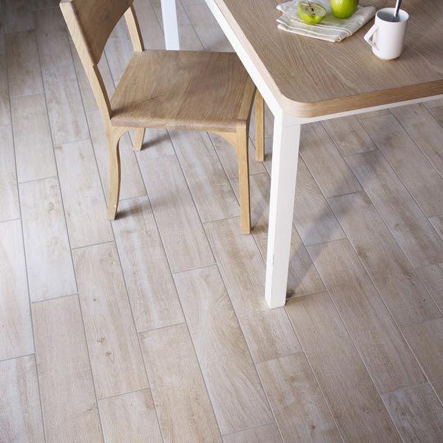 Carrelage sol et mur bois clair 15 x 60 5 cm lignium - Castorama carrelage sol ...
