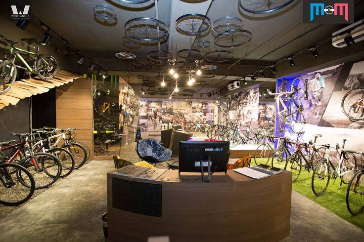 #WallGraphics #SiteBranding for #MumbaisBiggest bicycle studio #MasterMindBicycleStudio