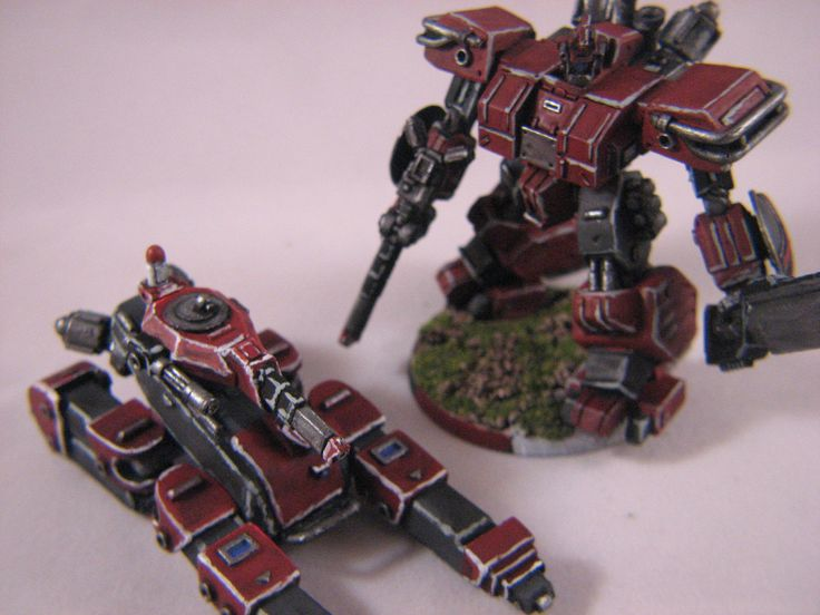 Heavy Gear Blitz - Dream Pod 9 - PRDF Coyote Tankstrider and Cataphract Gearstrider painted by Chad Chapman.
