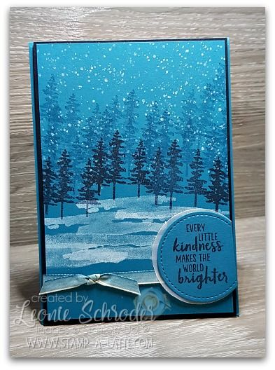 This week's card for Coffee and Card over on my Stamp n Create with Leonie Group is this gorgeous scenery card using the Waterfront Stamp Set