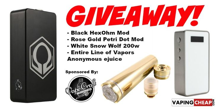 Enter to win over $850 dollars worth of Vape Gear from Vape Craft Inc.