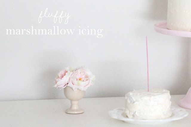 Marshmallow Icing Recipe - so light & fluffy, you may want to make extra for tasting!