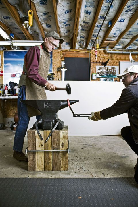 PM's home and auto editors took a weekend out to teach themselves how to heat and hammer metal the old-fashioned way. They started by ordering an anvil and making their own blacksmith forge.