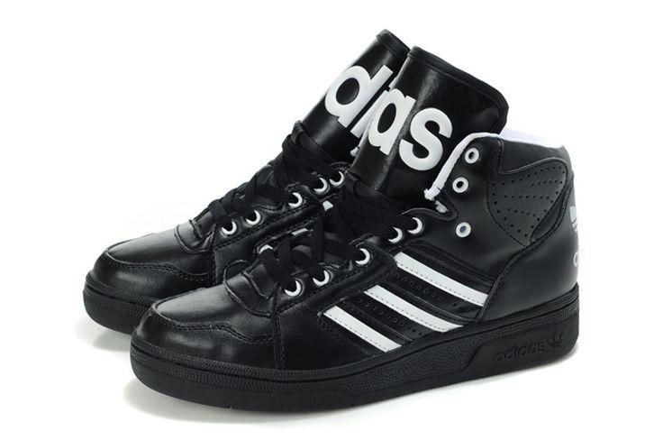 Adidas Jeremy Scott Instinct Hi GS - Chaussure Nike Sportswear Pas Cher Pour Femme/Enfant Noir/Blanc